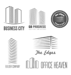 Set of logo and sticker emblem label and vector image vector image