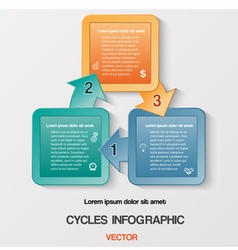 Template with text areas on 3 positions vector