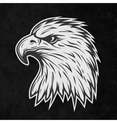 Terrible eagle head in profile vector