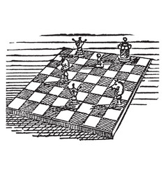 The chess vintage vector