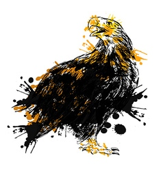 Colored hand drawing of an eagle vector
