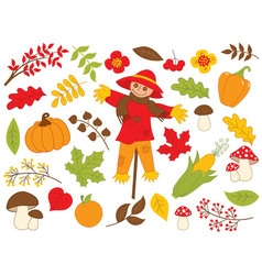 Harvest set vector