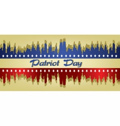 Patriot day with stars vector