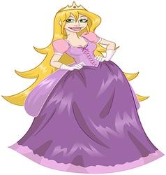 Princess rapunzel in pink dress vector