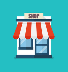 shop store flat icon vector image
