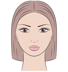 Female face vector