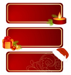 Three christmas tablets vector