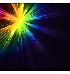 Abstract flash star light colorful exploding vector