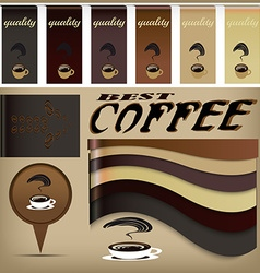 Coffee design banners vector
