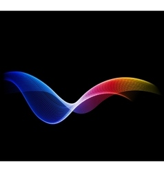 Shiny color waves backgrounds vector