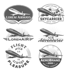 Air badges vector