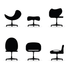 Chair set black vector