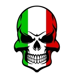 Skull in colors of the italian flag vector