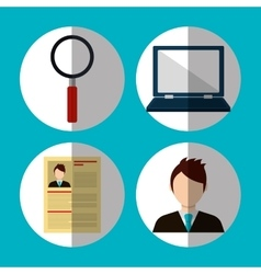 Searching business people vector