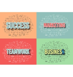 Business success and marketing strategy concept vector