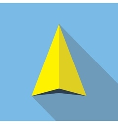 Navigation arrow flat icon navigator direction vector