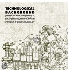 Background drawing engine vector image
