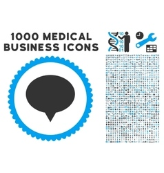 Banner Icon with 1000 Medical Business Pictograms vector image