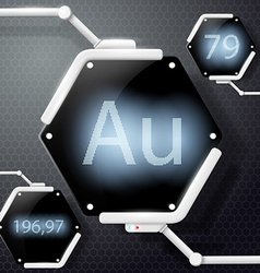chemical element gold vector image