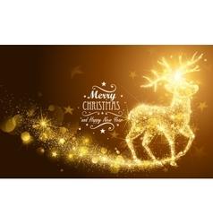 Christmas Magic Deer vector image