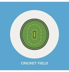 Cricket line icon Field sign Sport vector image vector image