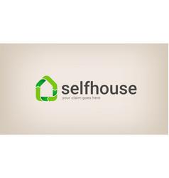 eco house logo company vector image vector image