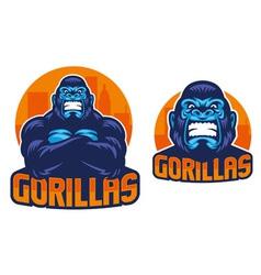 gorilla pose vector image