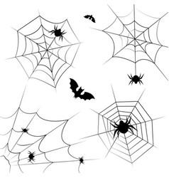 halloween cobweb frame border and dividers vector image