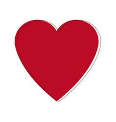 Heart love romance passion celebration symbol vector