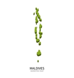 Isometric map of maldives detailed vector