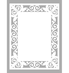 laser cut card vector image