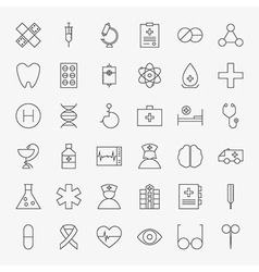 Line Medical Icons Big Set vector image