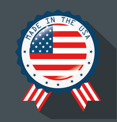 made in the usa ribbon vector image vector image