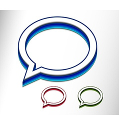messenger window icon vector image