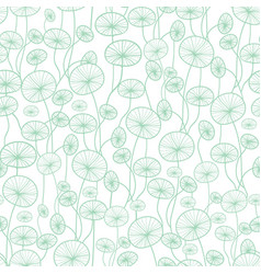 Mint green and white underwater seaweed vector