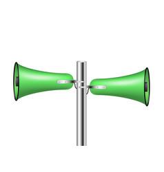 old loudspeaker system in green design vector image