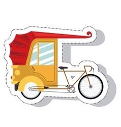 rickshaw service isolated icon vector image