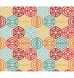 Seamless pattern with hexagons - vector