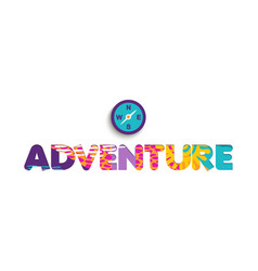 summer vacation adventure color cutout quote vector image vector image