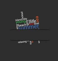 Summer word in pocket vector