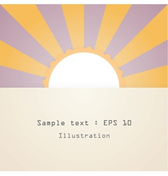 sun and text vector image
