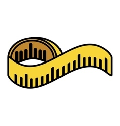 tape measure isolated icon vector image
