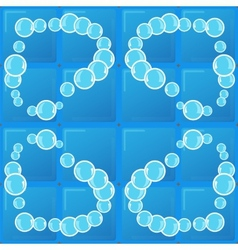 tile and soap bubbles vector image