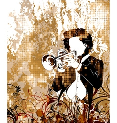 Vintage music poster vector