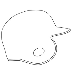 Baseball batting helmet vector
