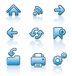 Web navigation icon set vector image