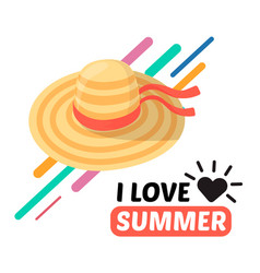summer women hat and text vector image