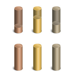 Cylindrical bars vector