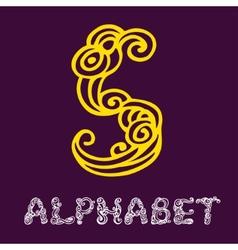 Doodle hand drawn sketch alphabet Letter S vector image