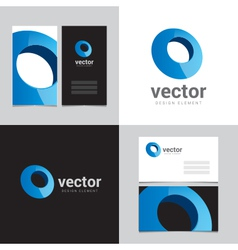 Logo design element with two business cards - 09 vector